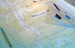 Navigation Chart Royalty Free Stock Photo