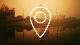Navigation Check-in Location Gps Icon Concept. Navigation Check-in Location Icon Concept royalty free stock photos