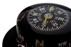 Navigation compass. Closeup on white background Stock Image