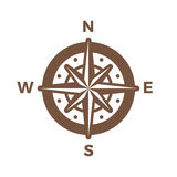 Navigation Compass Logo vintage design vector template.Wind rose Logotype  Stock Image
