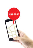 Navigation concept. success search with gprs on mobile Royalty Free Stock Photography