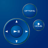 Navigation control buttons Royalty Free Stock Images