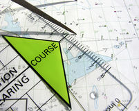 Navigation course. Equipment to calculate the course Royalty Free Stock Images