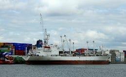 Navigation dans le port de Rotterdam Photos libres de droits