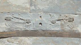 Navigation dans les Moyens Âges image libre de droits