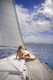Navigation dans les tropiques Images stock