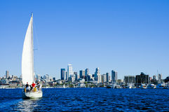 Navigation dans Seattle image stock