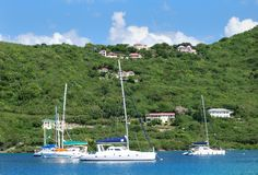 Navigation dans Tortola Photo stock