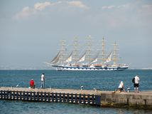 Navigation de bateau de croisière Image libre de droits