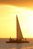 Navigation de coucher du soleil Photo libre de droits