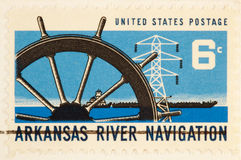 Navigation de fleuve d'Arkansas, circa 1968. photo stock