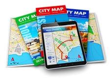 Navigation de GPS, course et concept de tourisme Photo libre de droits