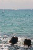 Navigation de la côte dans Pomorie, la Bulgarie Images libres de droits