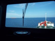 Navigation de pétrolier Photographie stock libre de droits