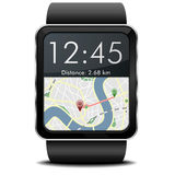 Navigation de Smartwatch Image stock