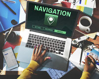 Navigation Destination Location GPS Map Concept Royalty Free Stock Photography