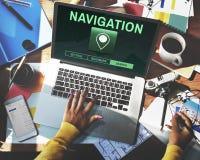 Navigation Destination Location GPS Map Concept. People Navigation Destination Location GPS Map Royalty Free Stock Photography