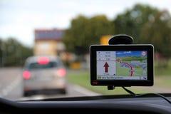 Navigation device for car Stock Photos