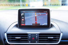 Navigation device in the car Royalty Free Stock Photography