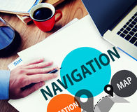Navigation Direction Destination Travel Guide concept Royalty Free Stock Photography