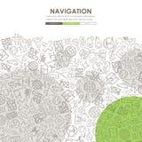 Navigation Doodle Website Template Design Royalty Free Stock Images