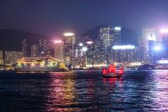Navigation du bateau antique DUKLING en Hong Kong Photographie stock