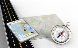 navigation du mobile 3d Illustration Stock