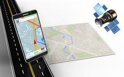 navigation du téléphone portable 3d Images stock