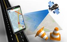 navigation du téléphone portable 3d Illustration Libre de Droits