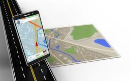 navigation du téléphone portable 3d Illustration Stock
