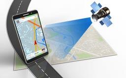 navigation du téléphone portable 3d Image libre de droits