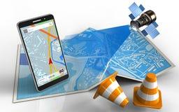 navigation du téléphone portable 3d Photographie stock libre de droits
