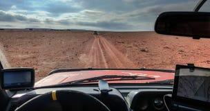 Navigation durch die Wüste stockfotos