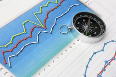 Navigation in economics and finance Stock Image