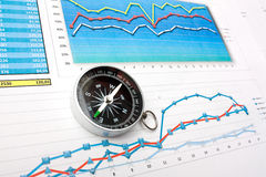 Navigation in economics and finance Stock Photography