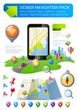 Navigation elements kit. Design template. Use for web, application, design. Fully editable. Vector Stock Photo