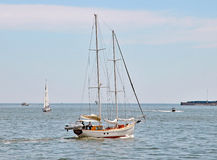 Navigation en Charleston Harbor Photos libres de droits