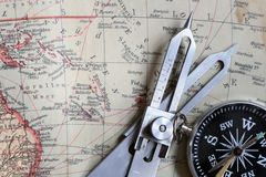 Navigation equipment stock image