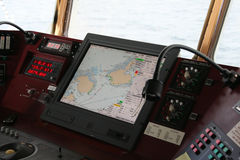 Navigation equipment on bridge Stock Images
