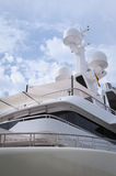 Navigation equipment on a luxury yacht Royalty Free Stock Photos