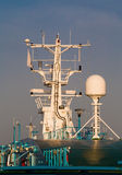 Navigation equipment on the mast Royalty Free Stock Images