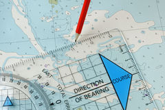 Navigation Equipment Plotting a Course Royalty Free Stock Image