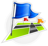 Navigation with flags Royalty Free Stock Photography