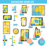 Navigation Flat Color Decorative Icons Stock Image