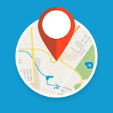 Navigation geolocation icon. Stock Photo