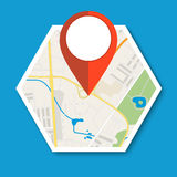 Navigation geolocation icon. Stock Images