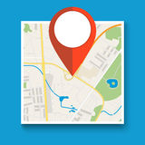 Navigation geolocation icon. Royalty Free Stock Image