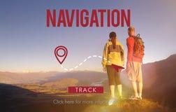 Navigation Gps Pilot Planning Position Route Concept Stock Images