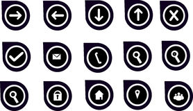 Navigation Graphics & Icons for Websites Stock Images