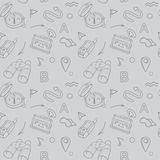 Navigation hand drawn doodles seamless pattern Royalty Free Stock Photography